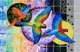 Primary Colors in Flight - Paintings by John Lautermilch