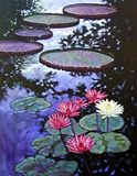 Lilies in the Afternoon 42-2003 - Paintings by John Lautermilch