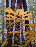 Sunlight on Leaves 49-2003 - Paintings by John Lautermilch