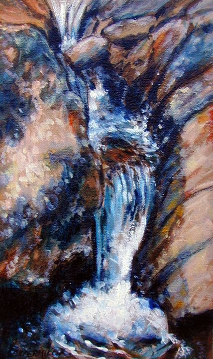Georgia Waterfall 65-2003 - Paintings by John Lautermilch