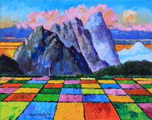 Flower Fields 53-2013 - Paintings by John Lautermilch