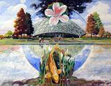 Oil painting on Masonite