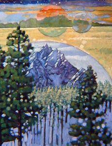 Majestic Orbit 31-1981 - Paintings by John Lautermilch