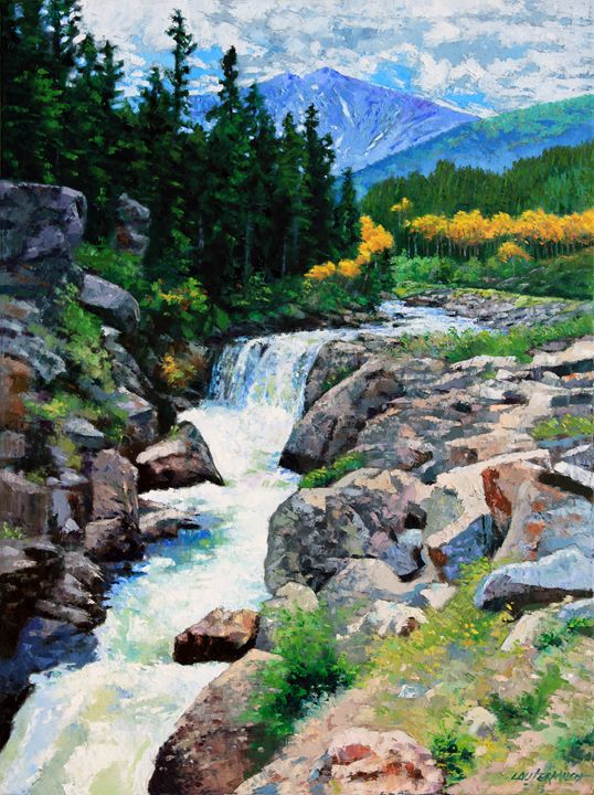 Rocky Mountain High is SOLD - Paintings by John Lautermilch