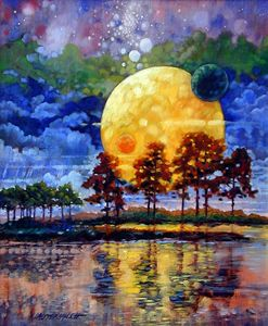 Harvest Moons 7-1994 - Paintings by John Lautermilch