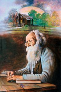 Memories of John Burroughs 115-1995 - Paintings by John Lautermilch