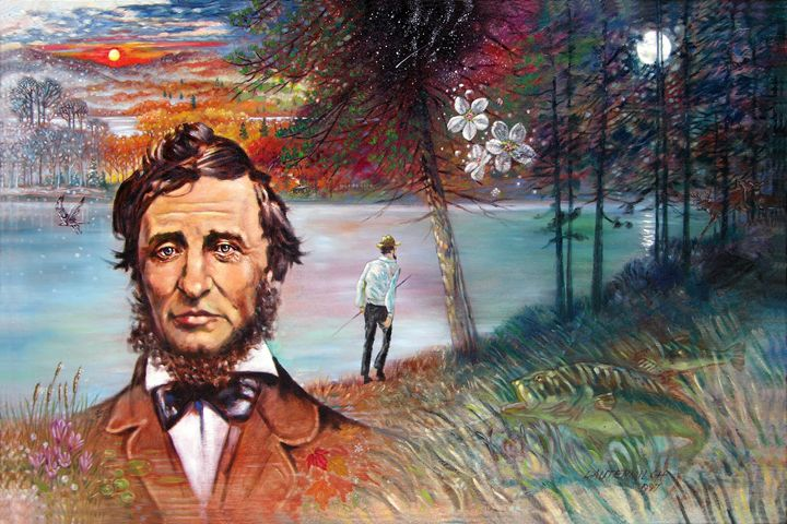 David Thoreau 3-1997 - Paintings by John Lautermilch