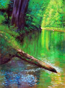 Quiet Stream 37-1994 - Paintings by John Lautermilch