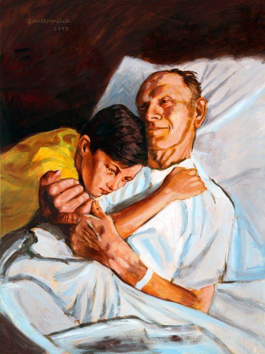 Goodbye Grandpa 134-1993 - Paintings by John Lautermilch