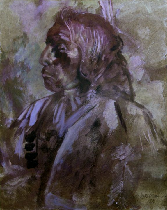 Sketch of Indian 119-1996 - Paintings by John Lautermilch
