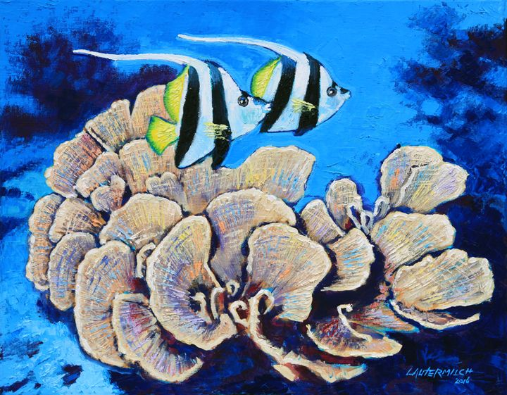 Longfin Banner Fish - Paintings by John Lautermilch