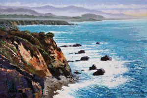 California Coastline 10-2014 - Paintings by John Lautermilch