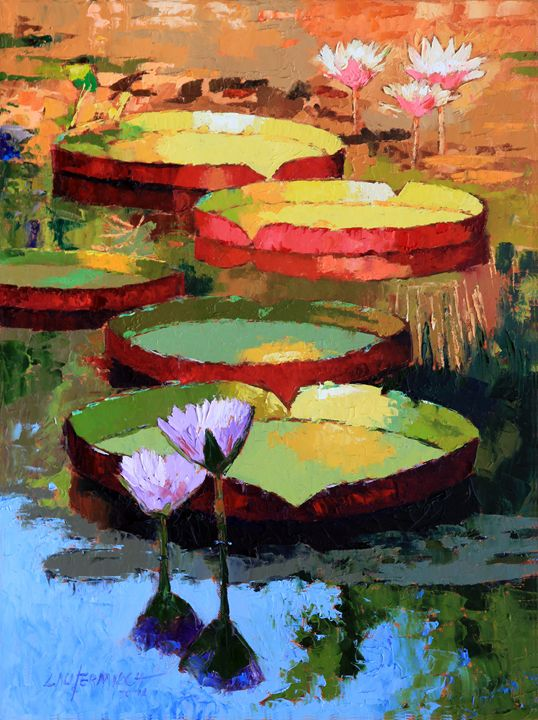 Golden Sunlight Reflections - Paintings by John Lautermilch