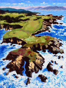 Pebble Beach - Paintings by John Lautermilch