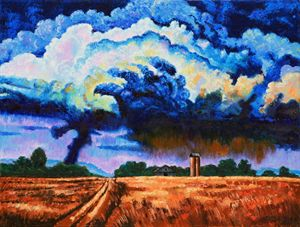 Storm Clouds for Beth - Paintings by John Lautermilch