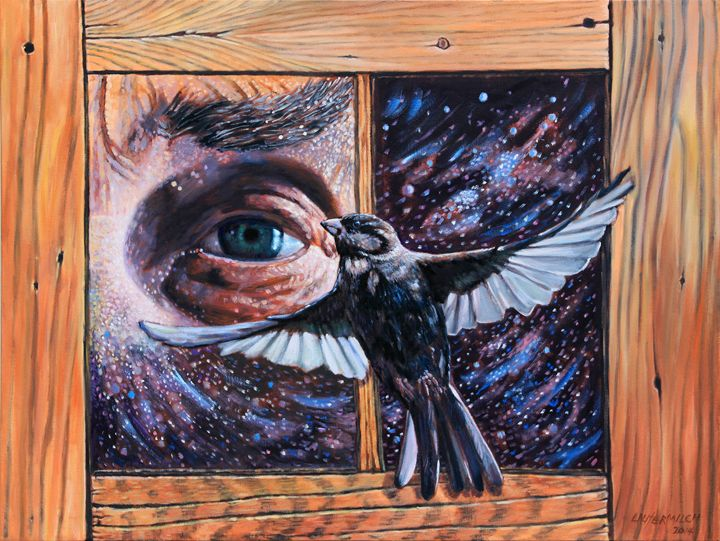 His Eye Is On The Sparrow - Paintings by John Lautermilch