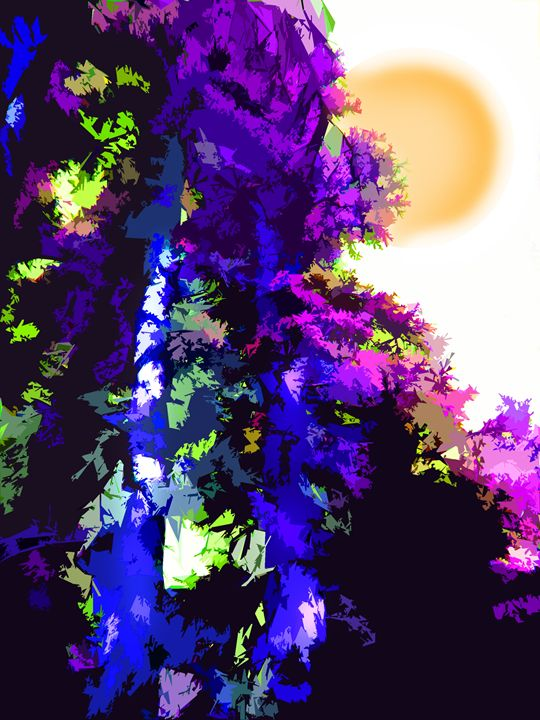 Trees and Sun - Paintings by John Lautermilch