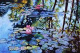 Sunspots on the Lilies - Paintings by John Lautermilch