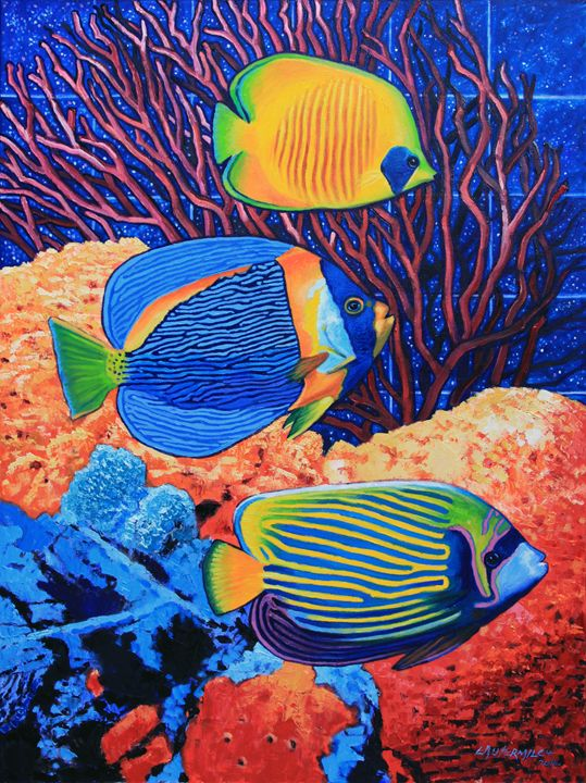 Our Little Fish Bowl - Paintings by John Lautermilch
