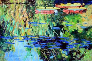 Summer Colors on the Pond - Paintings by John Lautermilch