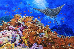Flight of the Stingray - Paintings by John Lautermilch