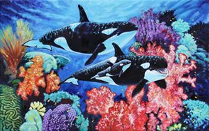 Happy Life of a Killer Whale - Paintings by John Lautermilch