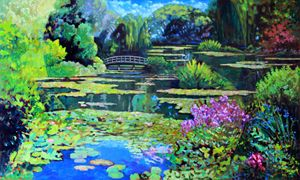Monet's World - Paintings by John Lautermilch