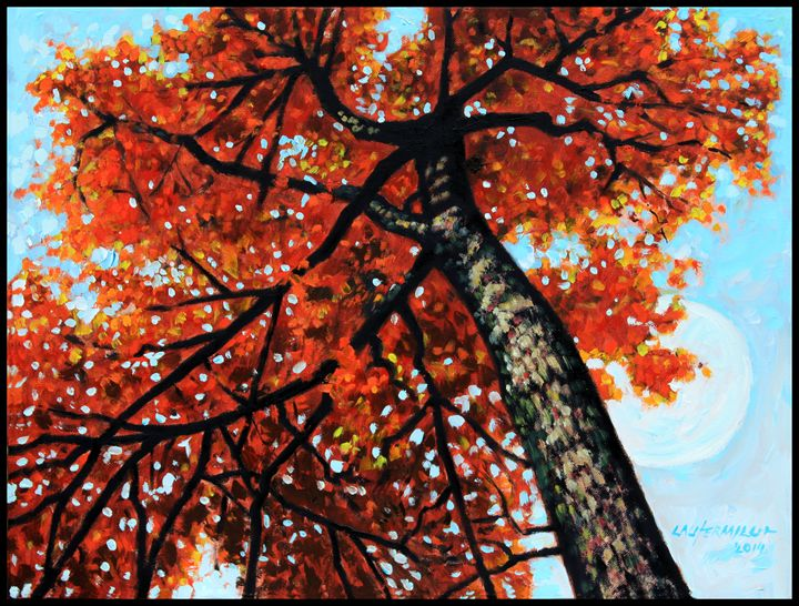 Autumn Moon - Paintings by John Lautermilch