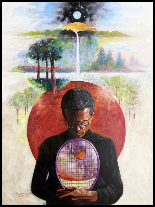 Arthur Ashe - Paintings by John Lautermilch