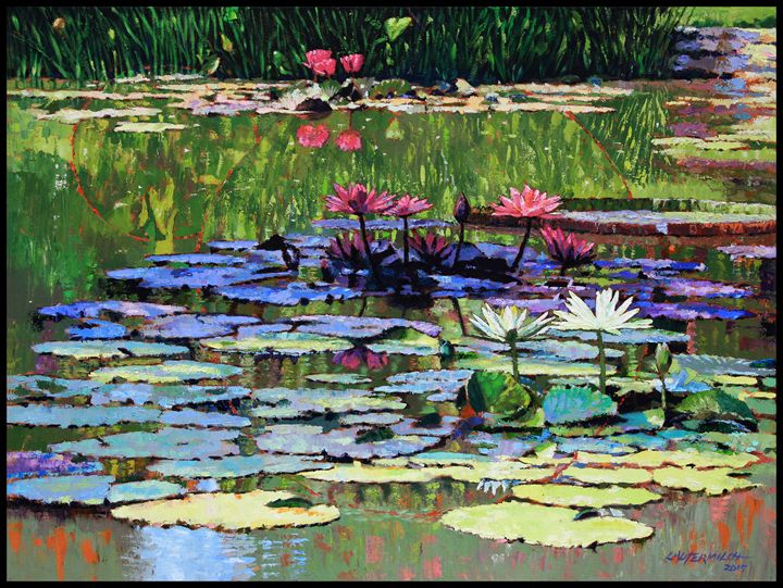 The Peace of the Lily Pond - Paintings by John Lautermilch