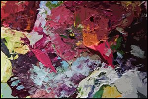 Palette Abstraction #1 - Paintings by John Lautermilch