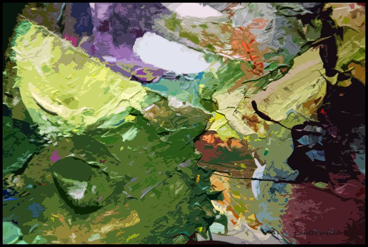 Palette Abstraction #2 - Paintings by John Lautermilch