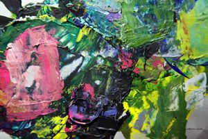 Palette Abstraction #3 - Paintings by John Lautermilch