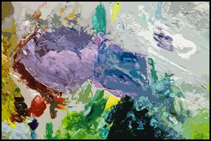 Palette Abstration #4 - Paintings by John Lautermilch
