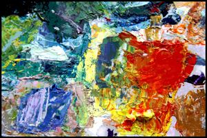 Palette Abstraction #5 - Paintings by John Lautermilch