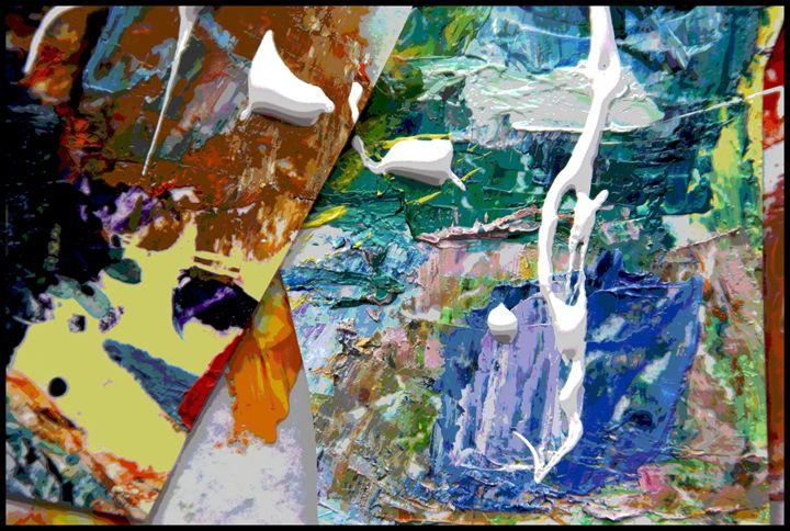 Palette Abstraction #8 - Paintings by John Lautermilch