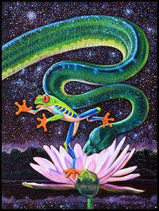 Serpent In The Garden - Paintings by John Lautermilch
