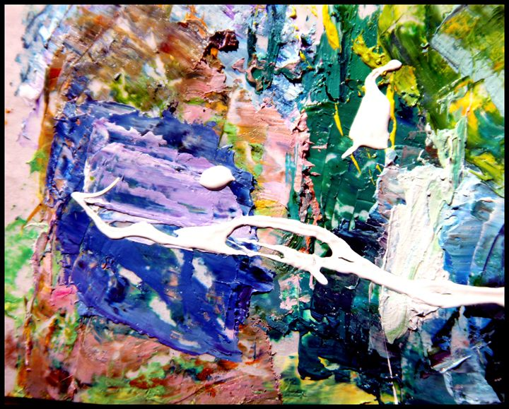 Palette Abstraction #10 - Paintings by John Lautermilch