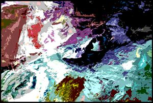 Palette Abstraction #14 - Paintings by John Lautermilch
