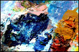 Palette Abstraction #15 - Paintings by John Lautermilch