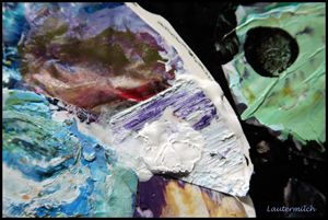 Palette Abstraction 19 - Paintings by John Lautermilch