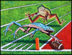 National Frog League - Paintings by John Lautermilch