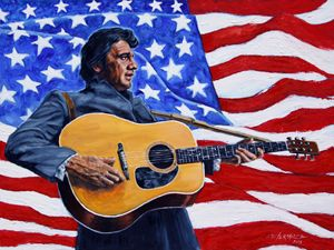 Johnny Cash - Paintings by John Lautermilch