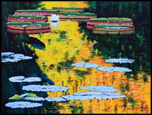 Golden Reflections of Autumn - Paintings by John Lautermilch