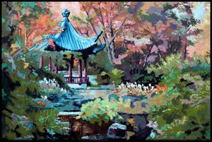 Friendship Garden - Paintings by John Lautermilch