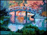 Sunlight in Back of Bridge - Paintings by John Lautermilch