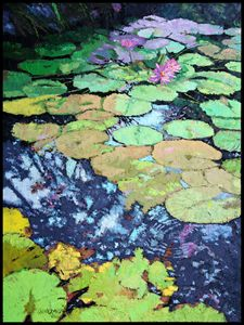 Composition With Lily Pads - Paintings by John Lautermilch