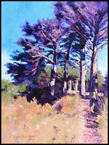 Trees Along The Trail - Paintings by John Lautermilch