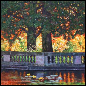 Golden Fall Light - Paintings by John Lautermilch