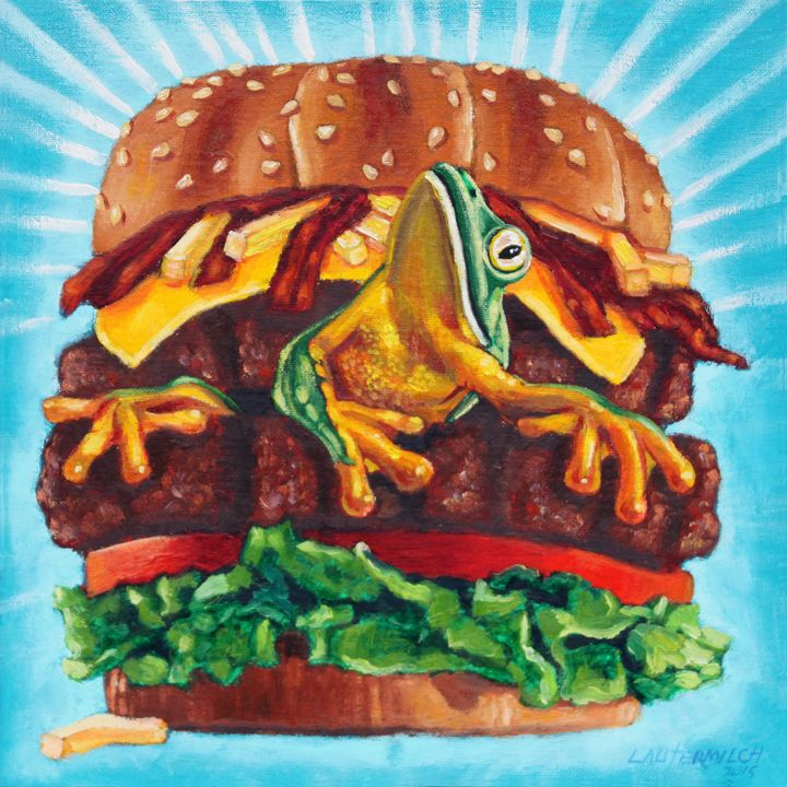 What's In Your Burger? - Paintings by John Lautermilch